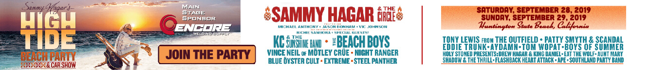 Sammy Hagar's High Tide Beach Party & Car Show - Buy Tickets Now!